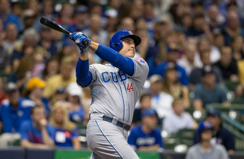 Cubs 1B Anthony Rizzo has made a habit of crushing Brewers pitching. (Getty)