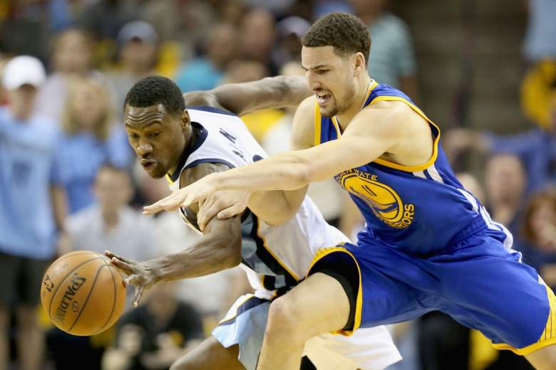 Guards Tony Allen and Klay Thompason will do battle again Wednesday. Getty)