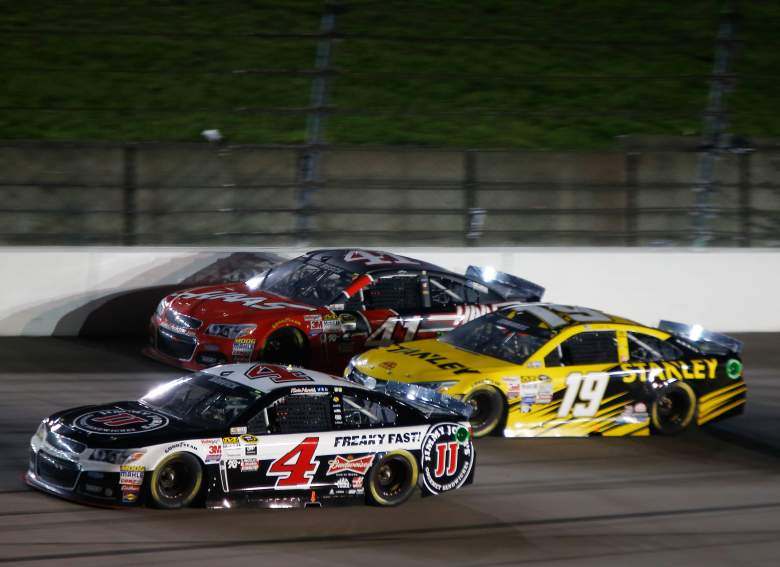 Kevin Harvick (4), Carl Edwards (19) and Kurt Busch highlight the field in Saturday's All-Star race. (Getty)
