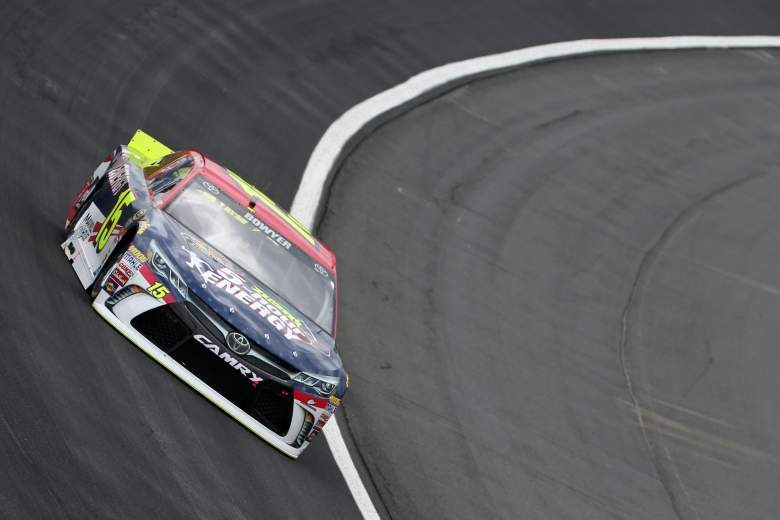 Clint Bowyer took the checkered flag in Friday's Sprint Showdown second segment. (Getty)