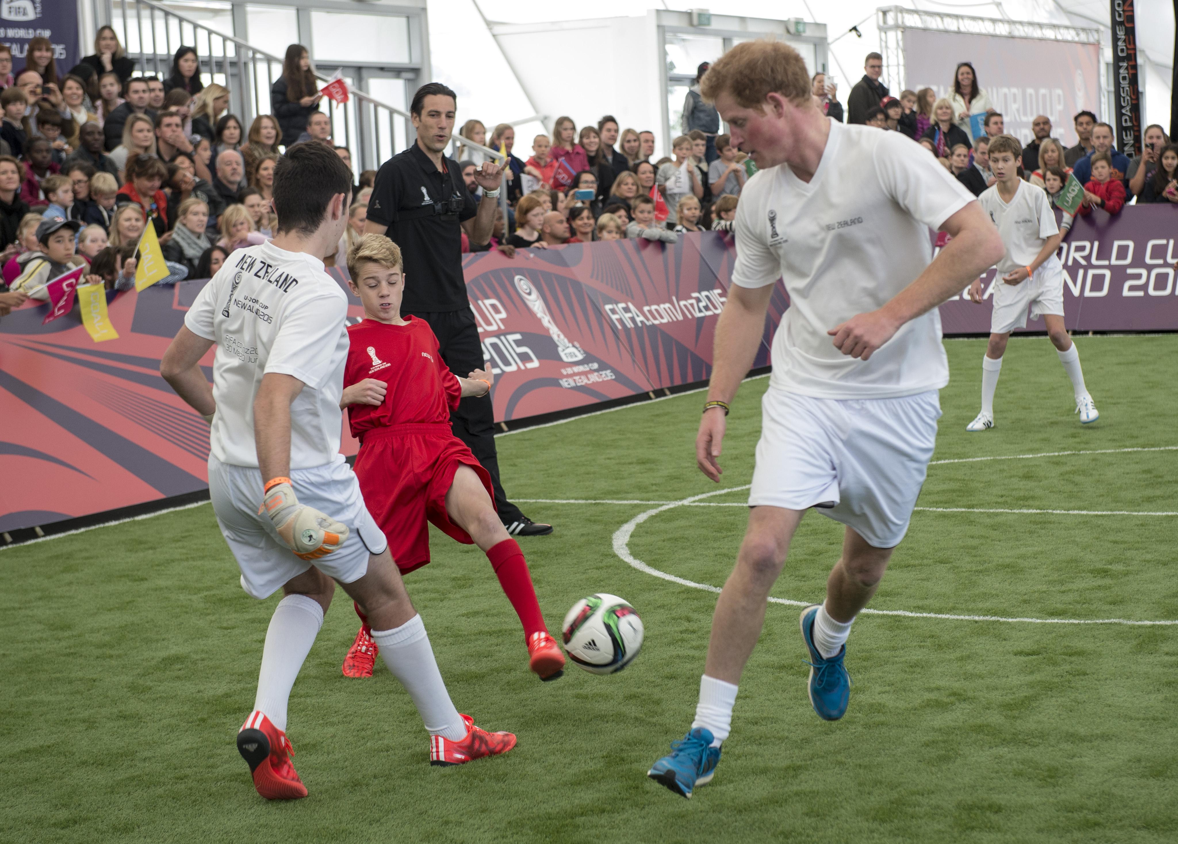 Prince Harry's football team.