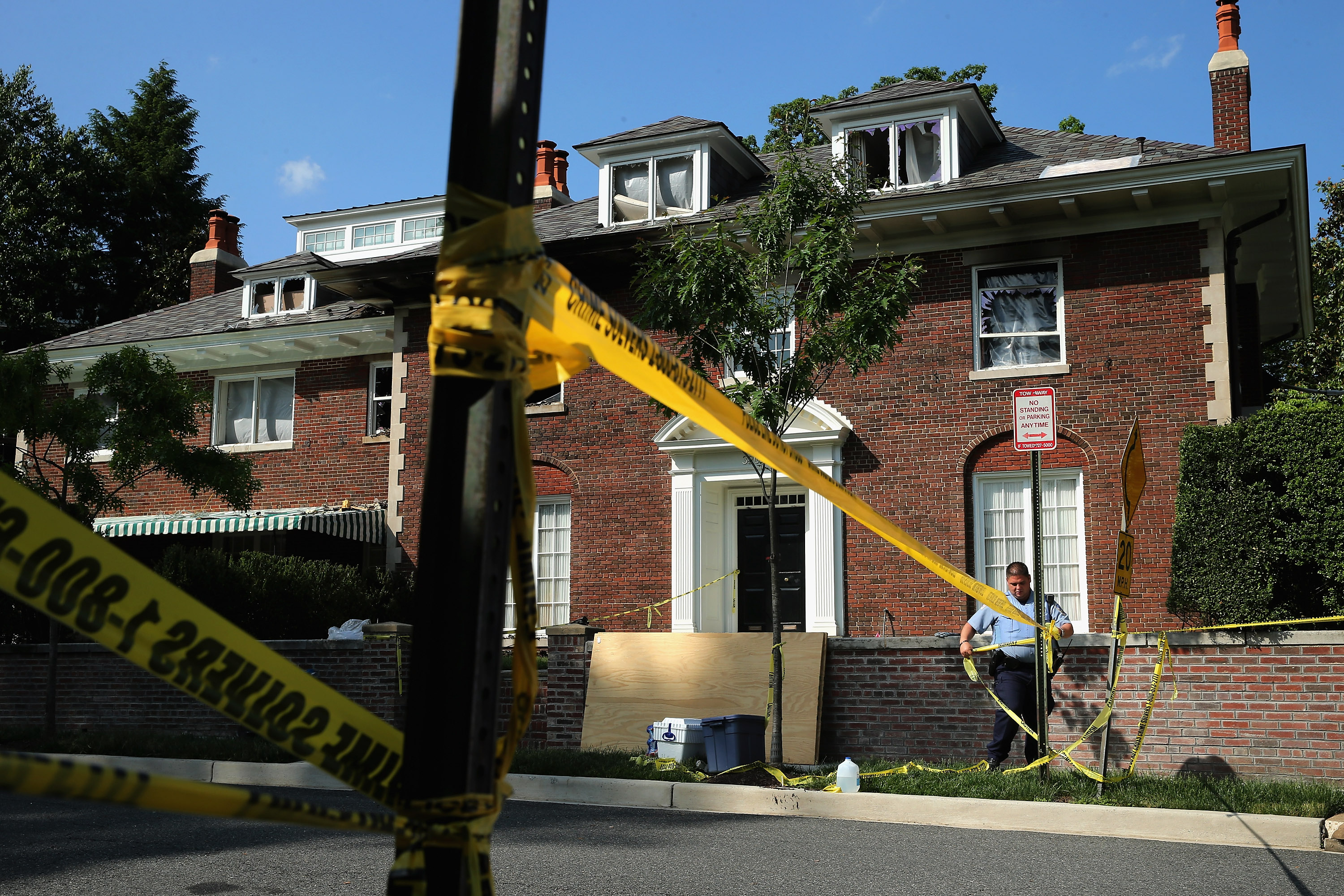 The house where Savvas, Amy and Philip Savopoulos and Vera Figueroa were killed. (Getty)