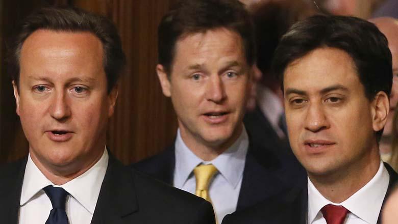 Ed Milliband David Cameron Nick Clegg Photos