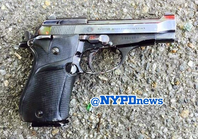 Police say this handgun was recovered from Branch after he was shot by officers. (Twitter)