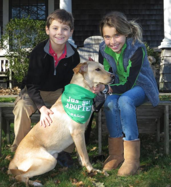 Hunter and Natalie Biden with their adopted dog, Indi.