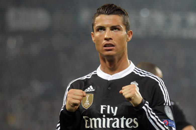 Ballon d'Or winner Cristiano Ronaldo leveled the Champions League match between Real Madrid at 1-1. This was his ninth goal of the 2014-2015 Champions League season. (Getty)