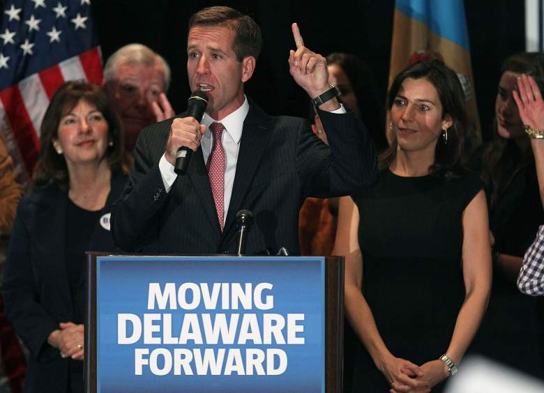 Beau Biden pictured here with his wife, Hallie. (Getty)
