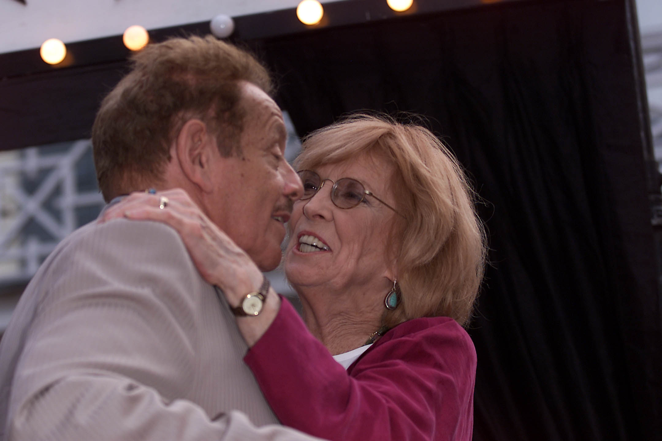 Anne Meara with her husband, Jerry Stiller. (Getty)