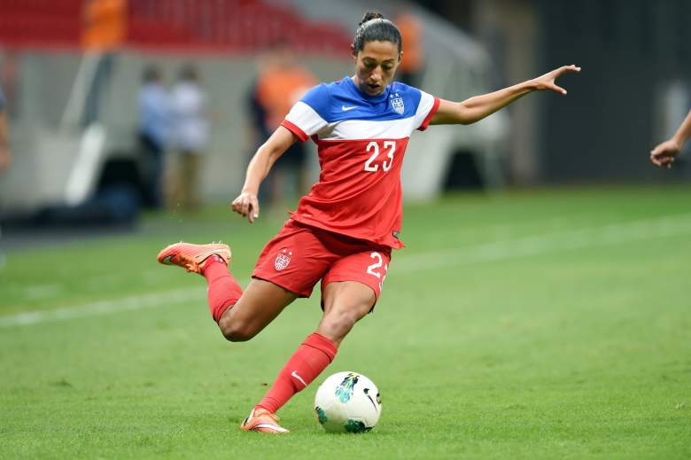 Christen Press and the American women are the favorites to win the World Cup. (Getty)