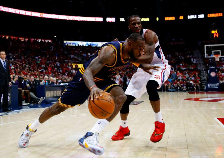 LeBron James and the Cavaliers covered the point spread against the Hawks in Game 1. (Getty)