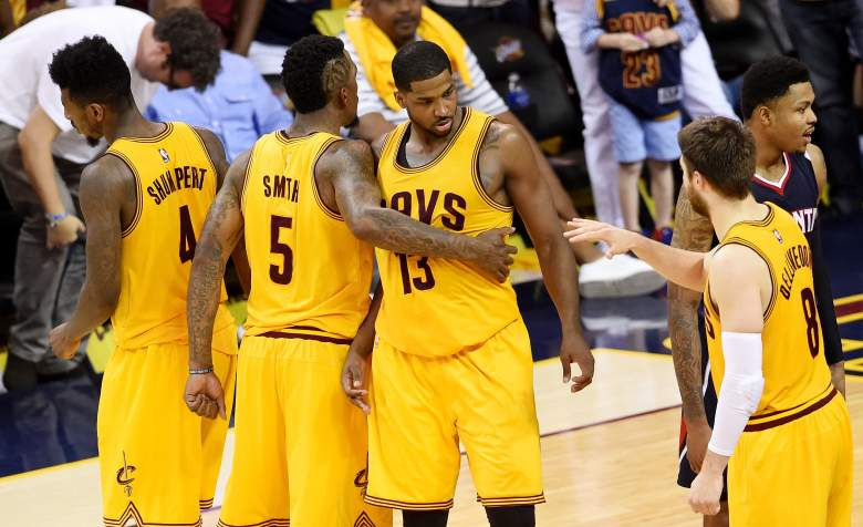The Cavaliers opened as an 8.5-favorite for Game 4 vs. the Hawks. (Getty)