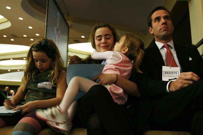 Beau Biden and his family pictured in 2007. (Getty)