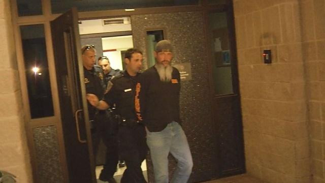 Jack Lewis in police custody. (KTXS)