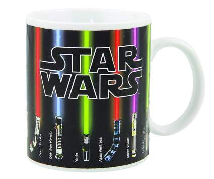 lightsabers heat mug