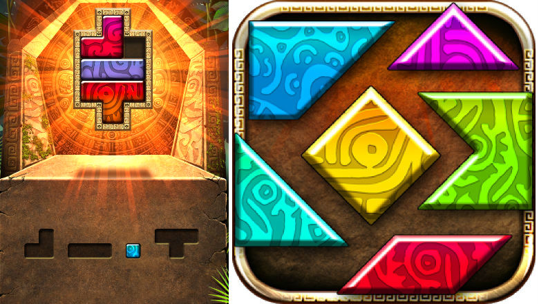 free puzzle games, puzzle apps, iphone apps, Montezuma Puzzle