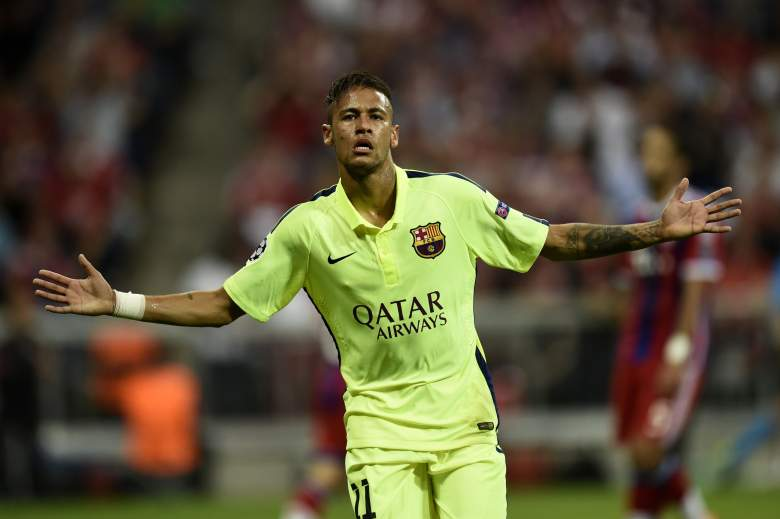 Barcelona's Brazilian forward Neymar scored twice against Bayern Munich within the first 30 minutes of the game, leading Barcelona to the Champions League final on June 6, 2015 in Berlin, Germany.        (Getty)