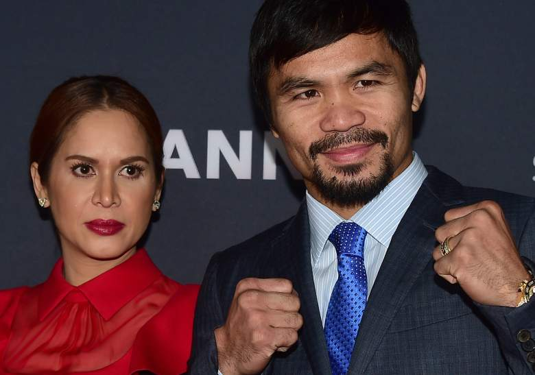 Manny Pacquiao, pictured with wife Jinkee, has diversfied his investments over his career. (Getty)