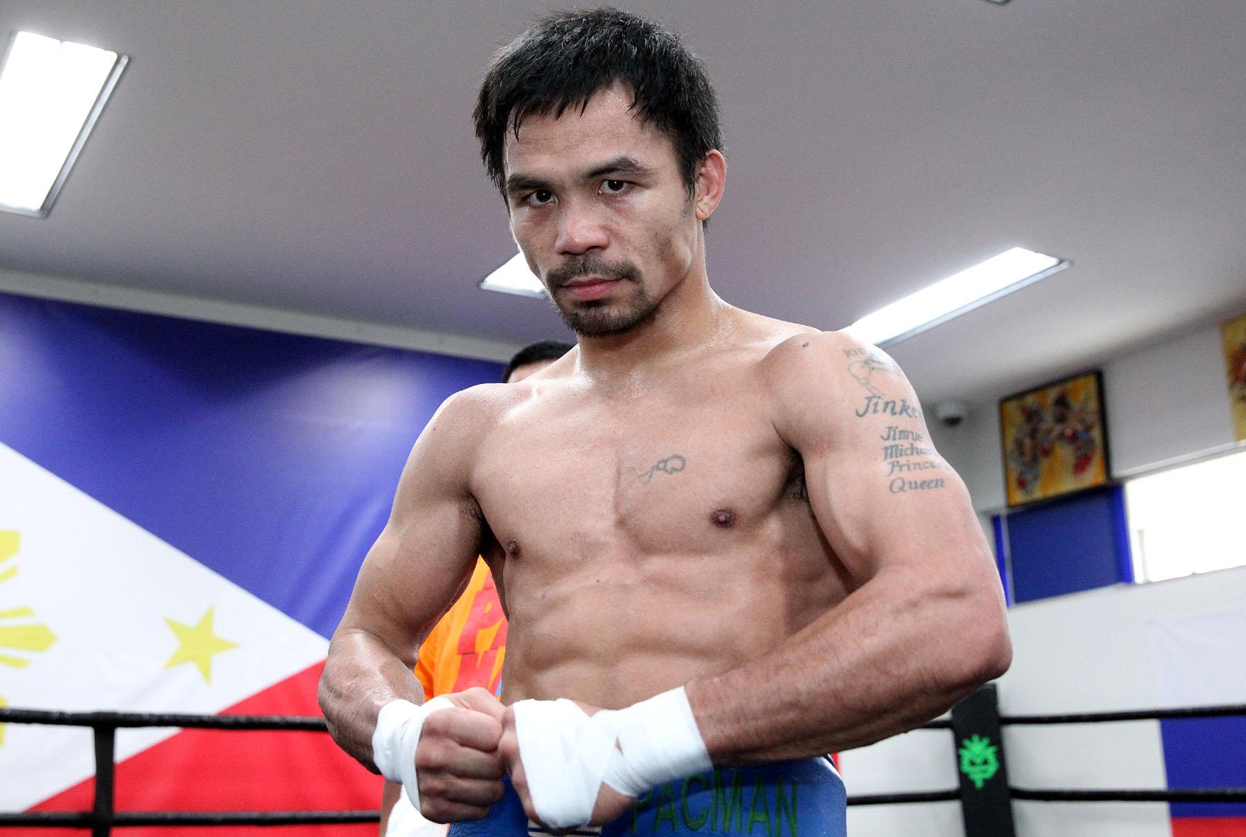 Manny Pacquiao  ---   Photo Credit : Chris Farina - Top Rank