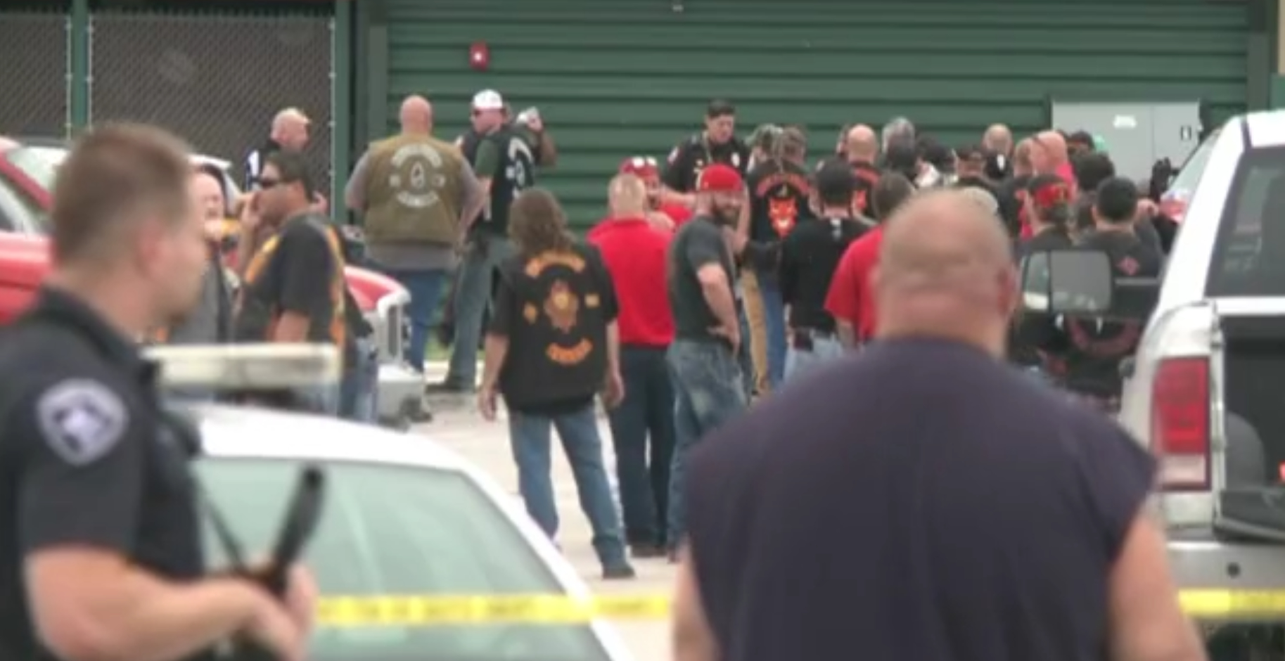 A screengrab from KWTX shows the scene of a shooting in Waco that left at least 9 dead. (KWTX)
