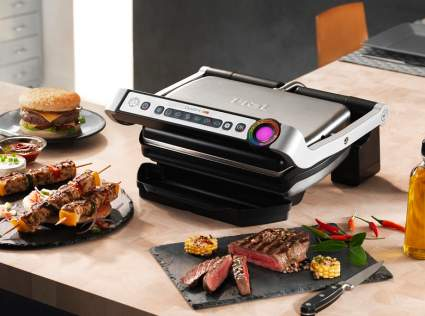 T-fal GC702D OptiGrill Stainless Steel Indoor Electric Grill, 1800-watt, Silver, T-fal GC702D OptiGrill Stainless Steel Indoor Electric Grill, t-fal optigrill, tfal optigrill