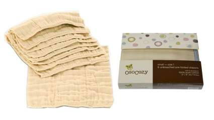 OsoCozy Prefolds Unbleached Cloth Diapers, Size 1, 6 Count , best prefold cloth diapers, best baby diapers reusable, toddler diaper