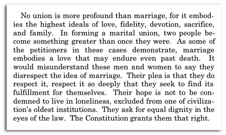 Conclusion of Supreme Court gay marriage ruling, 14th amendment on gay marriage, Constitution and gay marriage