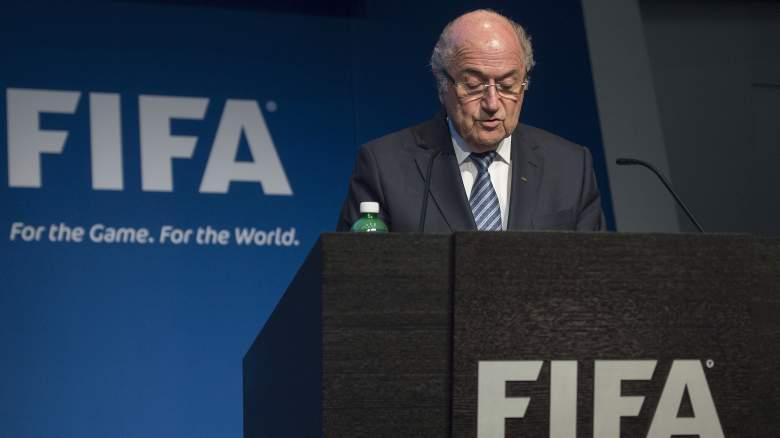 Sepp Blatter announces his resignation as FIFA president. (Getty)