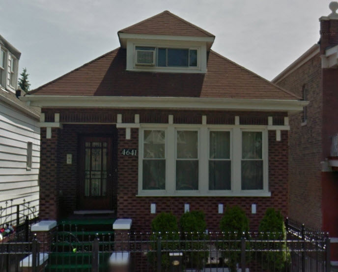 """The FBI raided this home at 4641 South Washentaw Avenue in Chicago in connection with the investigation into """"The Fappening."""" (Google Maps)"""