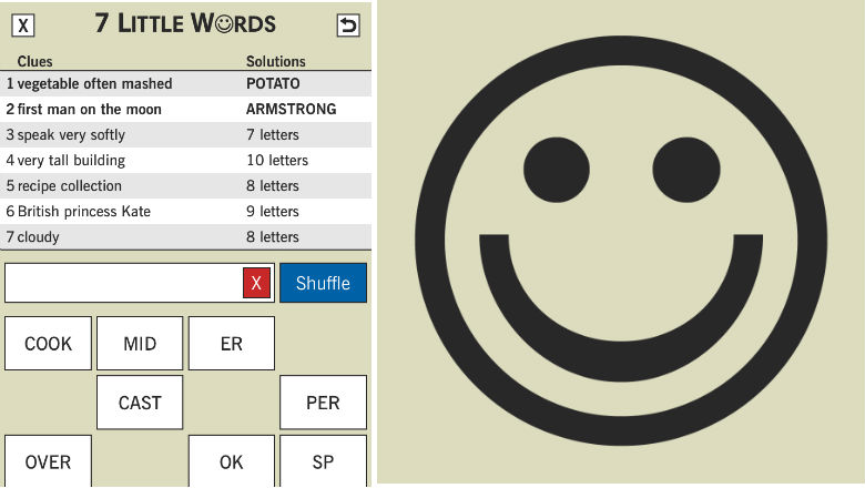 free word games, puzzle games, 7 Little Words