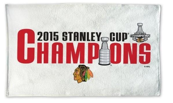 Blackhawks towel, Blackhawks Stanley Cup championship gear