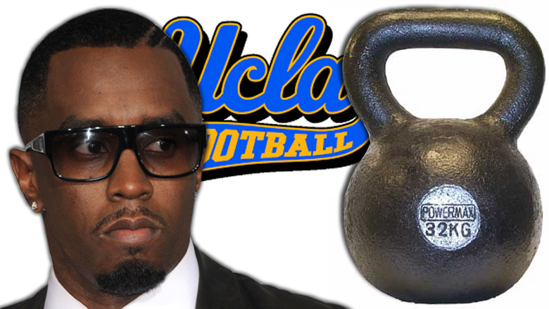 diddy arrested, diddy ucla football, diddy hits coach with kettlebell, diddys son ucla football