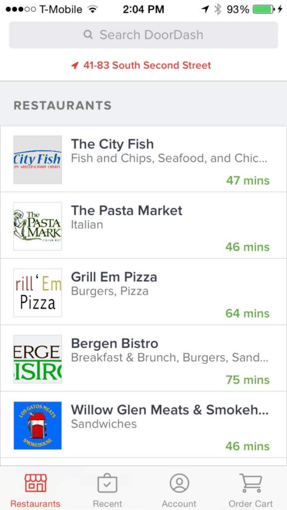 free delivery apps, take out apps, food and drink apps, Door Dash