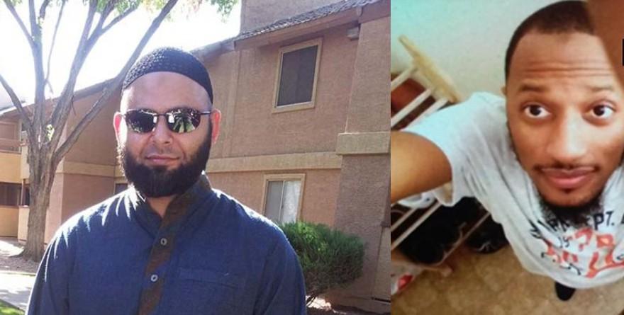 The FBI says Abdul Kareem plotted alongside Garland, Texas, gunmen Nadir Soofi, left, and Elton Simpson, who were killed during the May attack.