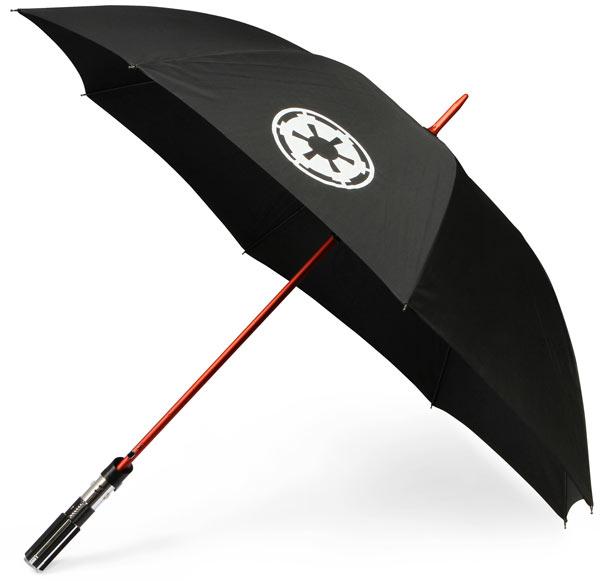 Lightsaber umbrella.