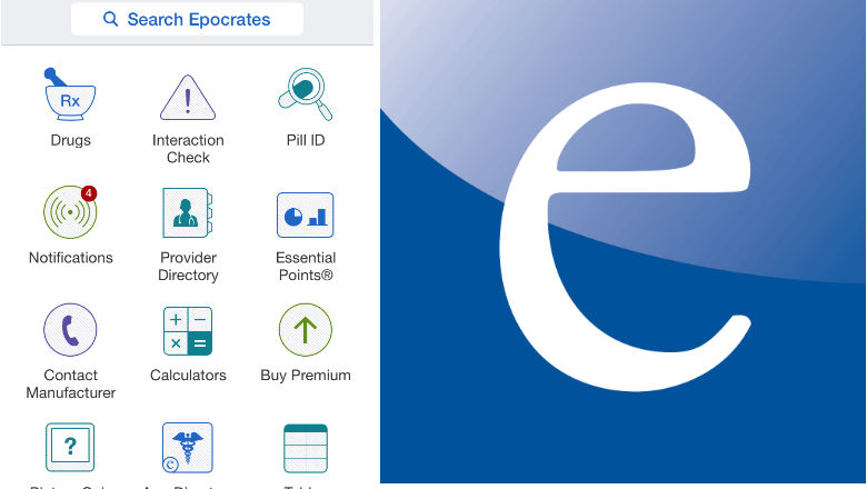 free medical apps, prescription apps, doctor apps, Epocrates