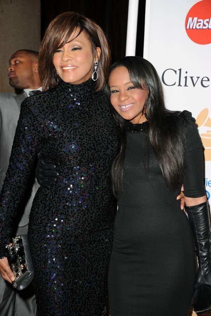 Bobbi Kristina with mother Whitney Houston (Getty)