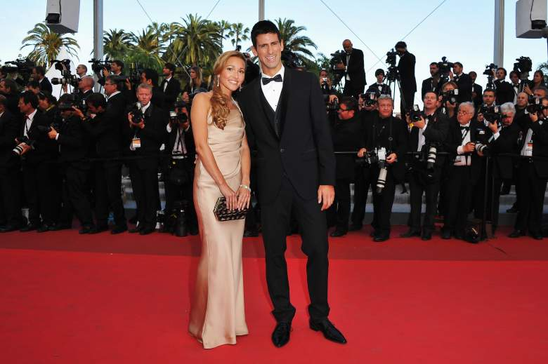 "CANNES, FRANCE - MAY 17:  Tennis player Novak Djokovic (R) and Jelena Ristic attends ""The Beaver"" premiere at the Palais des Festivals during the 64th Cannes Film Festival on May 17, 2011 in Cannes, France.  (Photo by Pascal Le Segretain/Getty Images)"