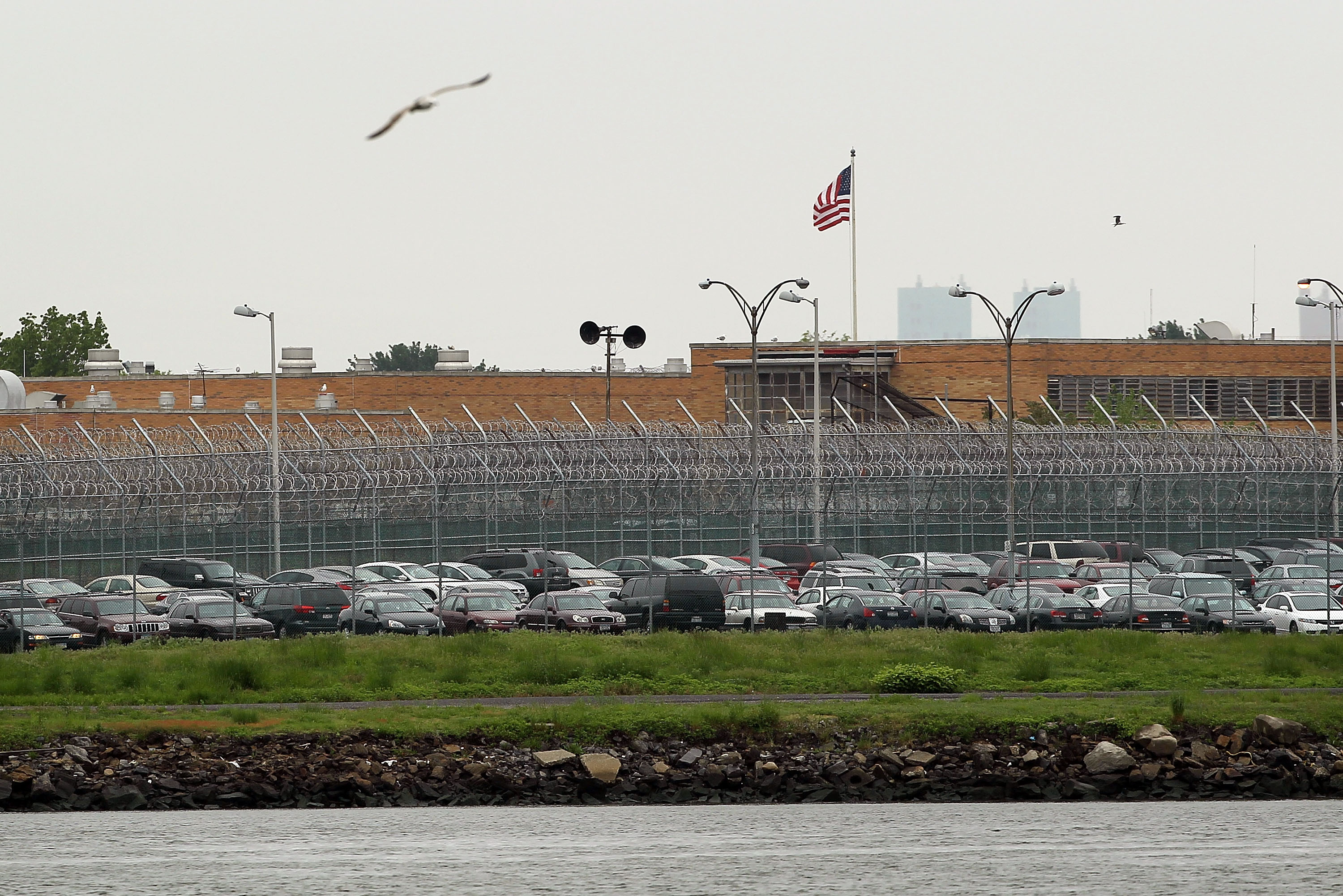 A view of Rikers Island. (Getty)