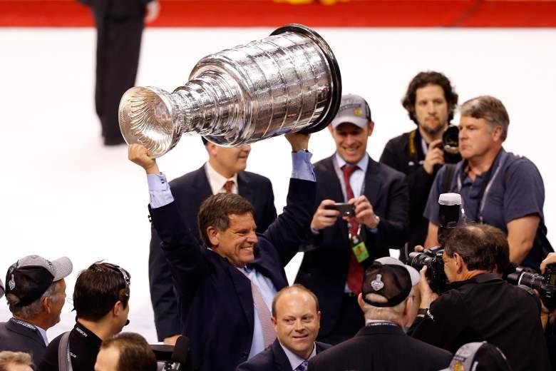Wirtz celebrated a Blackhawks Stanley Cup win in 2013. (Getty)
