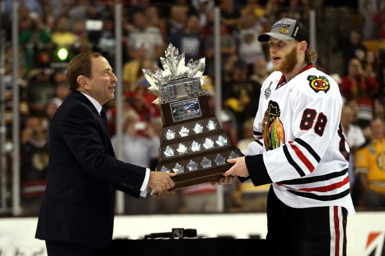 Patrick Kane became the first American-born forward to win the Conn Smythe Trophy in 2013. Getty)