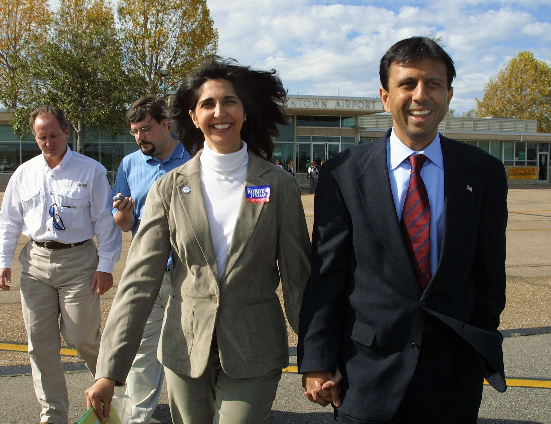 Bobby and Supriya Jindal in 2003. (Getty)