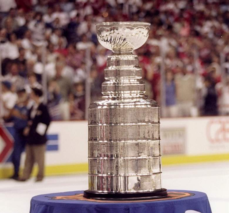 16 Jun 1998: General view of the Stanley Cup trophy during the Stanley Cup Finals game between the Detroit Red Wings and the Washington Capitals at the MCI Center in Washington, D. C.. The Red Wings defeated the Capitals 4-1.