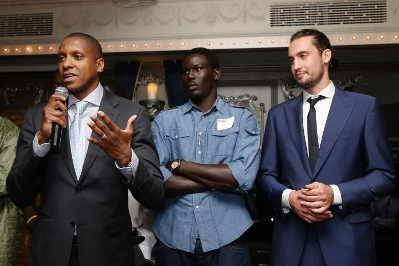 Masai Ujiri (Left) hired D'Alessandro to the Denver Nuggets in 2010. (Getty)