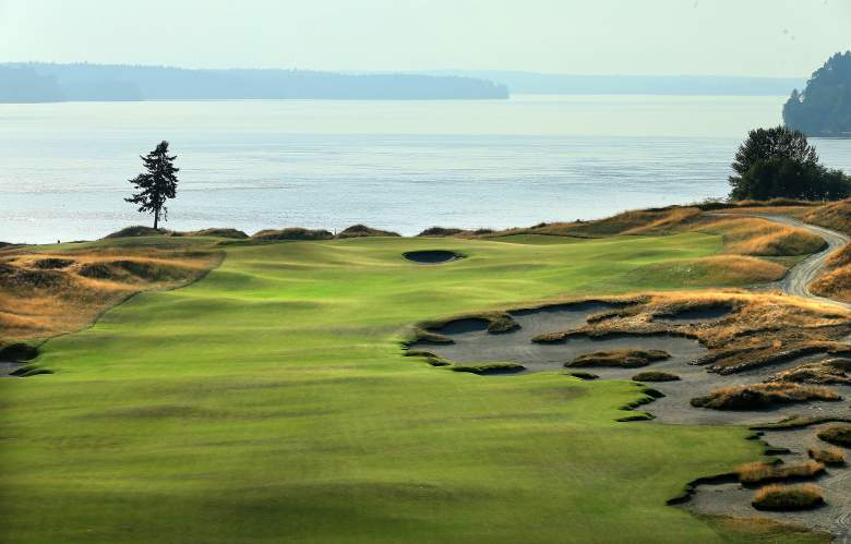 The par-4, 5th hole at Chambers Bay Golf Course. (Getty)