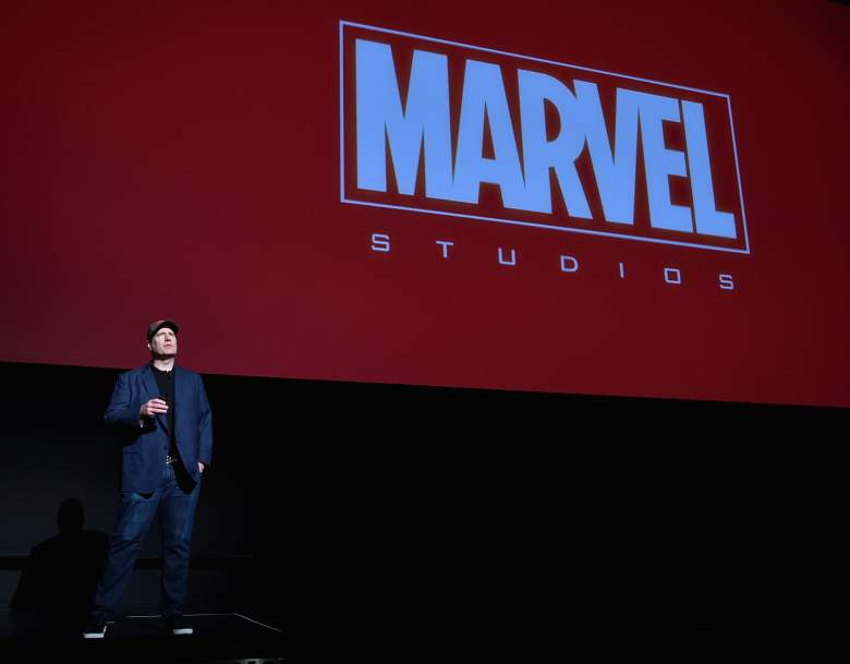 LOS ANGELES, CA - OCTOBER 28:  President of Marvel Studios Kevin Feige onstage during Marvel Studios fan event at The El Capitan Theatre on October 28, 2014 in Los Angeles, California.  (Photo by Alberto E. Rodriguez/Getty Images  for Disney)