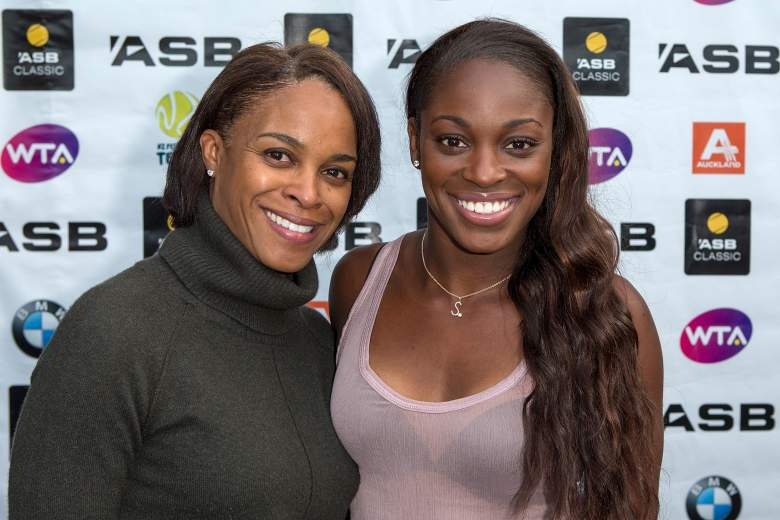 Sloane Stephens with her mother Sybil Smith. (Getty)