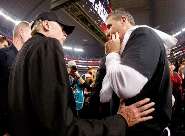 Phil Knight pictured above with Ohio State head coach Urban Meyers. (Getty)