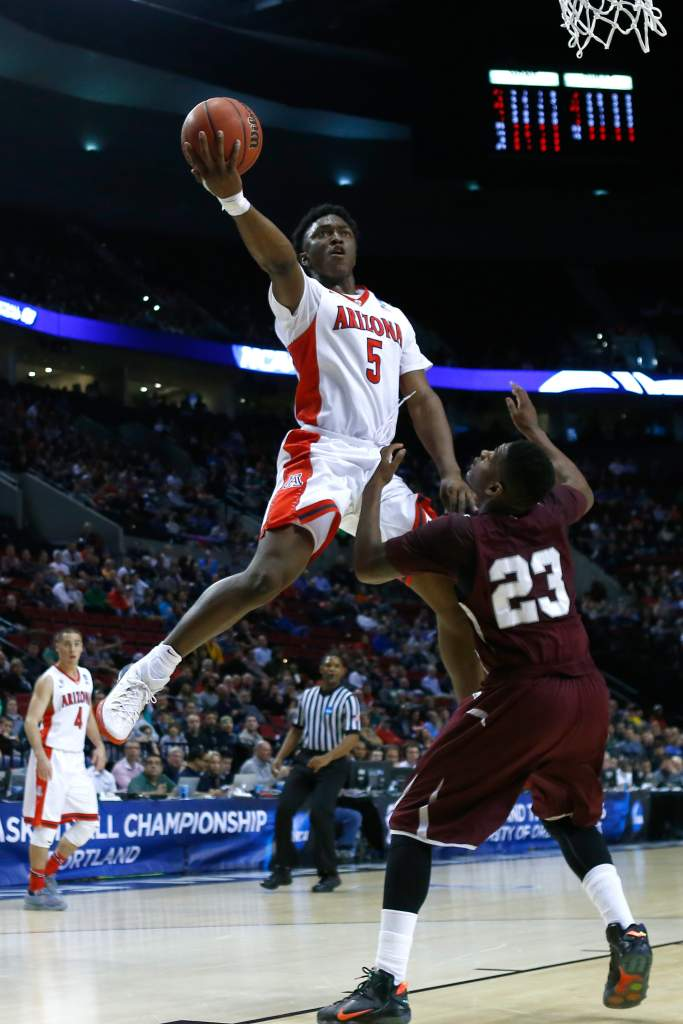 during the second round of the 2015 NCAA Men's Basketball Tournament at Moda Center on March 19, 2015 in Portland, Oregon.