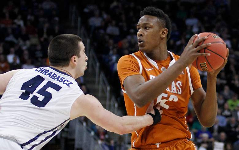 Myles Turner faces up in the post. (Getty)