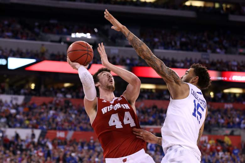 Frank Kaminsky goes up for the shot. (Getty)